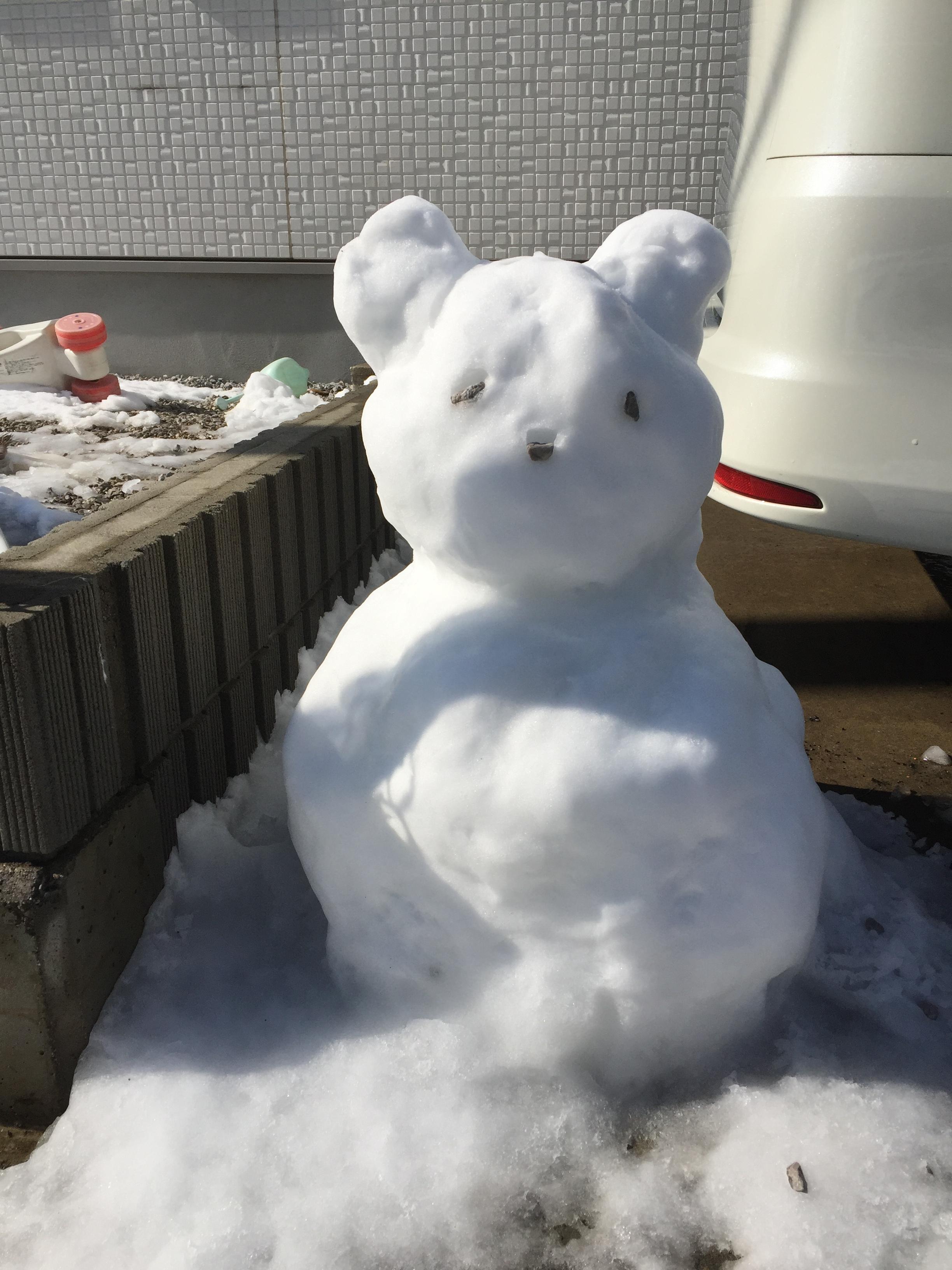パンダの雪だるま