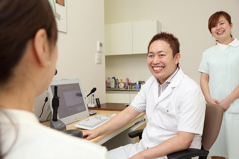 眼科専門医が診療しています